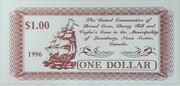 1 Dollar (United Communities of Lunenburg, Nova Scotia) – obverse