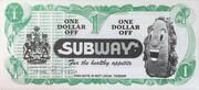 1 Dollar off - Subway – obverse