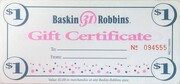 1 Dollar - Baskin-Robbins – obverse