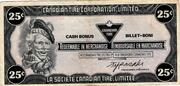 25 Cents - Canadian Tire Coupon – obverse