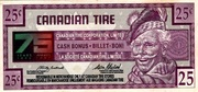 25 Cents - Canadian Tire Coupon (75th Anniversary) – obverse