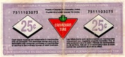 25 Cents - Canadian Tire Coupon (75th Anniversary) – reverse