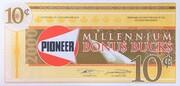 10 Cents - Pioneer Bonus Bucks (Millennium) – obverse