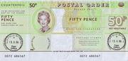50 Pence (Postal Order; Field Post Office) – obverse