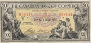 20 Dollars (The Canadian Bank of Commerce) – obverse