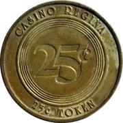 25 Cents Token - Casino Regina – reverse