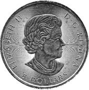 8 Dollars - Elizabeth II – obverse