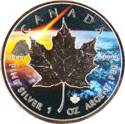 5 Dollars - Elizabeth II (Abee Meteorite; Enhanced by Private mint) – reverse