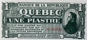 1 Piastre (Banque De La République Du Québec) – obverse