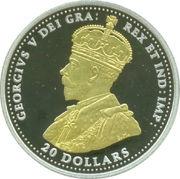 20 Dollars - Elizabeth II (George V - The Second Battle of Ypres) -  obverse