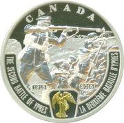 20 Dollars - Elizabeth II (George V - The Second Battle of Ypres) -  reverse