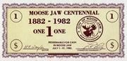 1 Dollar - Centenary of Moose Jaw, Saskatchewan – obverse