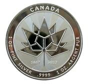 1 oz Silver (150 Years Maple Leaf) – obverse