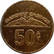 50 Cents - Gateway Casinos (Burnaby, British Columbia) – reverse