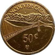 50 Cents - Vancouver Casino (Vancouver, British Columbia) – obverse