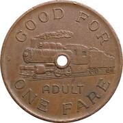 1 Adult Fare - Heritage Park (Calgary, Alberta) – reverse