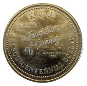 Sesquicentennial Dollar - Kingston, Ontario – obverse