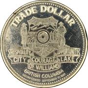 1 dollar - Pinchbeck-Borland Ranch - City of Williams Lake Trade Dollar – reverse