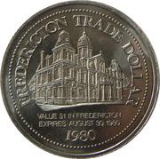 1 dollar (Fredericton Trade Dollar) – reverse