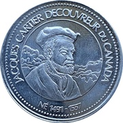 Token - Jacques Cartier Discoverer Of Canada – obverse