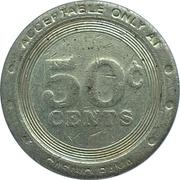 50 Cents - Casino Rama (Rama, Ontario) – reverse