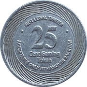 25 Cents - Hanover Raceway (Hanover, Ontario) – reverse