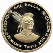 1 Dollar (Mohawk tribes) – obverse