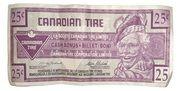 25 Cents - Canadian Tire Coupon (Light purple) – obverse