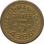 25 Cents - City Taxi & Auto Co. (Vancouver, British Columbia) – obverse