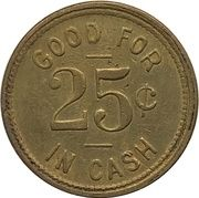 25 Cents - City Taxi & Auto Co. (Vancouver, British Columbia) – reverse