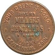 Lucky Coin - Millers Jewelers (BC Centennial) – obverse