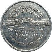 Medal - The Opening of Agassiz Rosedale Bridge (British Columbia) – reverse