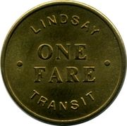 Lindsay Transit - One Fare – obverse