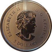 5 Dollars - Elizabeth II (The Canadian Forces Snowbirds) – obverse