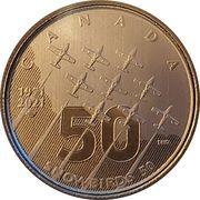5 Dollars - Elizabeth II (The Canadian Forces Snowbirds) – reverse