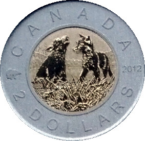 Baby Wolves 2012 Specimen $2 Two Dollar Coin