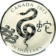 10 Dollars - Elizabeth II (Year of the Snake) -  reverse