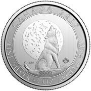 2 Dollars - Elizabeth II (Wolf Moon; ¾ oz. Silver Bullion Coinage) -  reverse