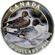 10 Dollars - Elizabeth II (Pintail Duck) -  reverse