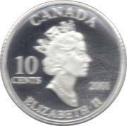 10 Cents - Elizabeth II (Year of Volunteers) -  obverse