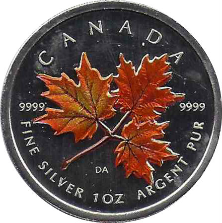 5 Dollars Elizabeth Ii 1 Oz Autumn Maple Leaf