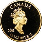 3 Cents - Elizabeth II (Postage Stamp Gold Plated) – obverse
