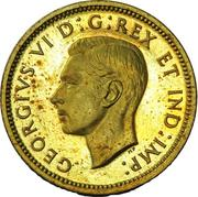 1 Cent - George VI (Pattern strike) – obverse