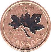 1 Cent - Elizabeth II (4th portrait; Specimen sets) – reverse