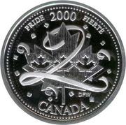 25 Cents - Elizabeth II (Pride; silver) -  reverse