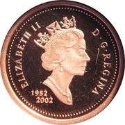1 Cent - Elizabeth II (Golden Jubilee, Proof Issue) – obverse
