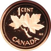 1 Cent - Elizabeth II (Golden Jubilee, Proof Issue) – reverse