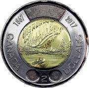 2 Dollars - Elizabeth II (Dance of The Spirits) -  reverse