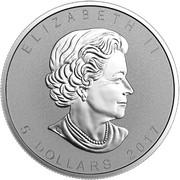5 Dollars - Elizabeth II (Bald Eagle) -  obverse