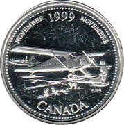 25 Cents - Elizabeth II (November; silver) -  reverse